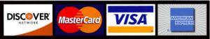 Visa MC AMEX logos