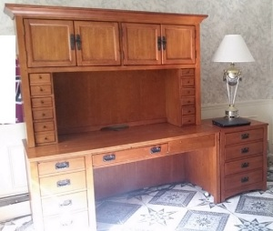 Desk Large with Hutch August 2016 a